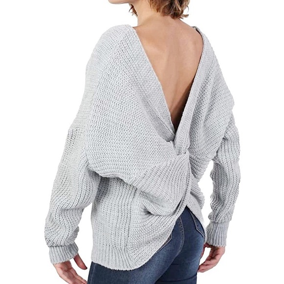Miracle Back Knot Sweater